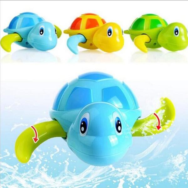 200 Pcs bebês nascidos nadar tartaruga cadeia ferida-up pequeno animal do bebê crianças brinquedos de banho brinquedo clássico piscina jogar banho brinquedo