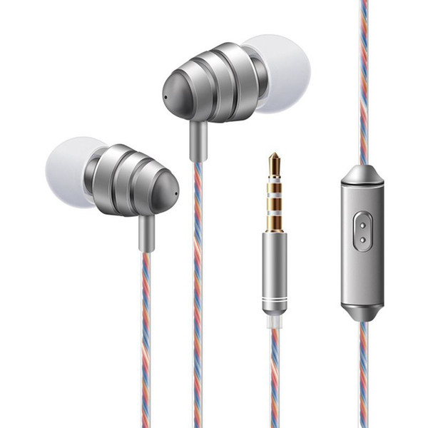 ITSYH Romantic Earphone with mirophone Earbuds heavy Bass music ear phone for Cell Phone mp3 mp4 1.2m colorful wire 3.5mm plug TW-770