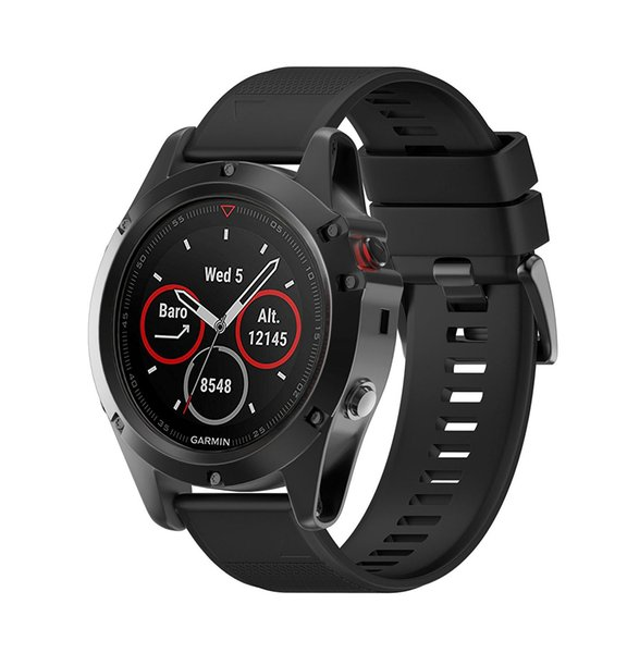 Garmin Fenix 5X Bands,Quick Install Band Silicone Replacement Accessories Straps for Fenix 5S GPS Smart Watch (No Garmin Watch Included)