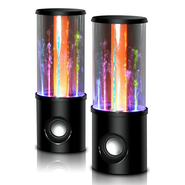 New Dancing Water Speaker Music Audio 3.5MM Player LED 2 in 1 USB mini Colorful Water-drop Show Fountain subwoofer for PC tablets PSP phones