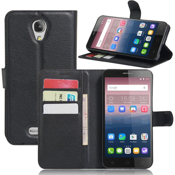 Diforate New Arrival Luxury Leather Wallet Phone Flip Cover Pouch Case For alcatel POP 4 Plus/POP 4+