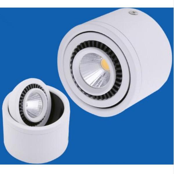 Бесплатная доставка (40 шт./лот) AC85-265V поверхностного монтажа затемнения 7 Вт / 10 Вт / 15 Вт LED пятно downlight COB утопленный вниз свет лампы