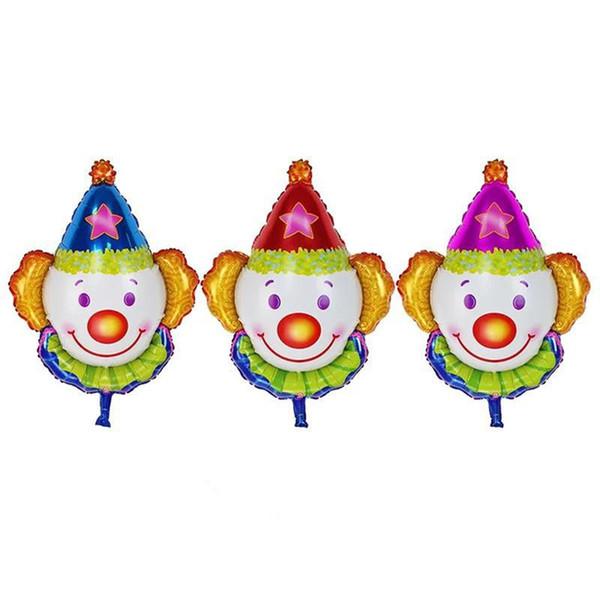 50pcs/lot 80*63cm New Clown Heads Aluminum Balloons. Children Toys Party Birthday Decor Balloons