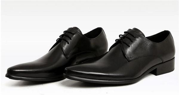 Adam nokta 2017 ayak elbise ayakkabı İtalyan tasarımcı resmi erkek elbise ayakkabı hakiki deri siyah lüks düğün ayakkabı erkekler için daire ofis erkek