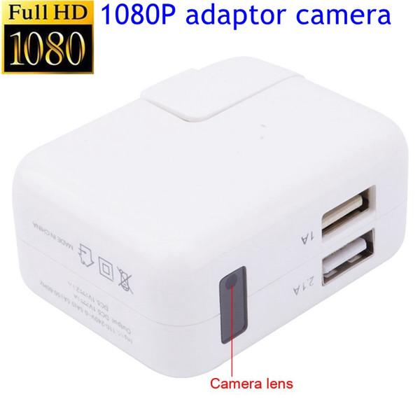 도매 탐지 1080P 미니 카메라 실내 USB 벽 충전기 캠 보모 캠 모션 탐지 어댑터 홈 보안 2 USB 포트