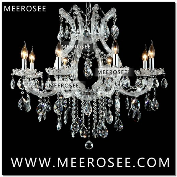 Hot selling Maria Theresa Clear White Crystal Chandelier Lamp Luster Cristal Pendelleuchte Light Fixture top quality 8 Lights