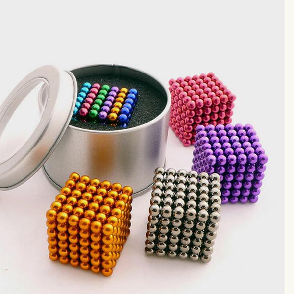 Colorful 216 pcs 5mm neo cube magic neodymium beads magnet cube puzzle magnetic balls decompression Neokub toy birthday present for kids
