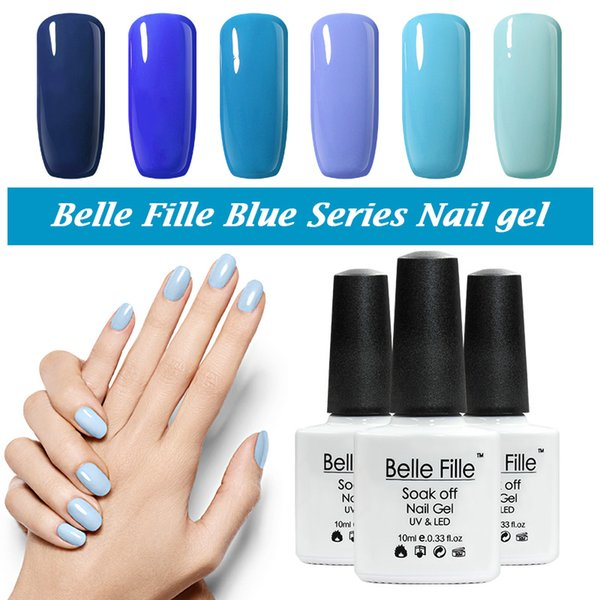 Wholesale Belle Fille Uv Gel Nail Polish Blue Series Nail Polish Gel ...