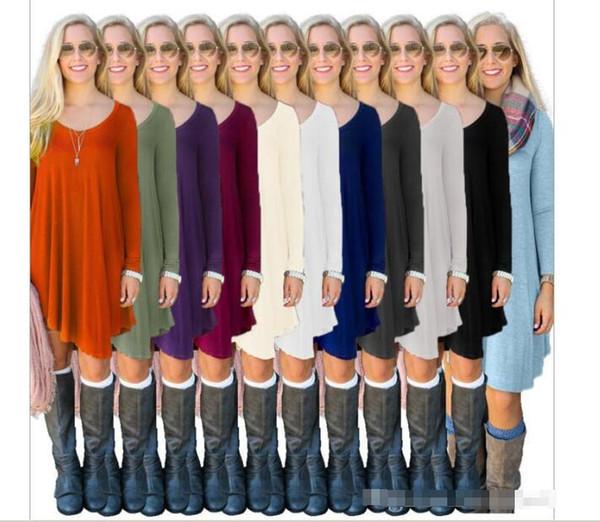 top popular T Shirts tops Women designer Sweaters Fashion Leisure Tops Long Sleeve Casual Blouse European America Street T Shirts Loose Tank sweater 2020