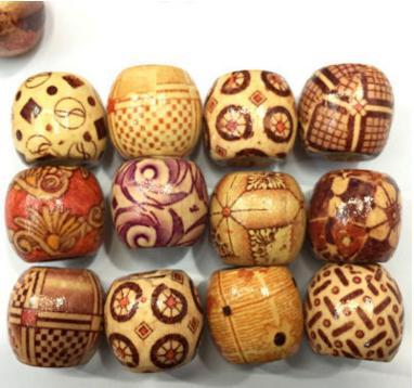 best selling Loose Beads 10MM Retro Flowers and Bead Free Shipping Wood Beads Diy Jewelry Accessories Wooden Beads Wood Bead