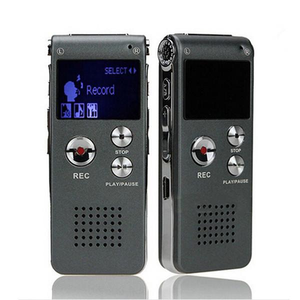Wholesale- Voice Recorder 8GB Mini USB Flash Digital Audio Voice Recording 650Hr Dictaphone MP3 Player