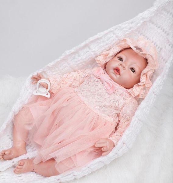 22 Inch Handmade Lifelike Girl Baby Doll Reborn Newborn Silicone Vinyl Dolls&Clothes Simulation Rebirth Doll Gift Doll