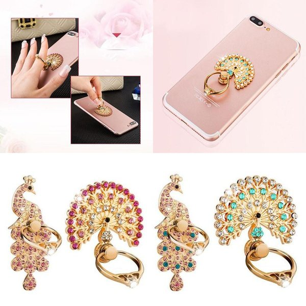 top popular Bling Diamond Ring Phone Holder Unique Mix Style Cell Phone Holder Fashion For iPhone X 8 7 6s Samsung S8 cellphone stand iPad 2021