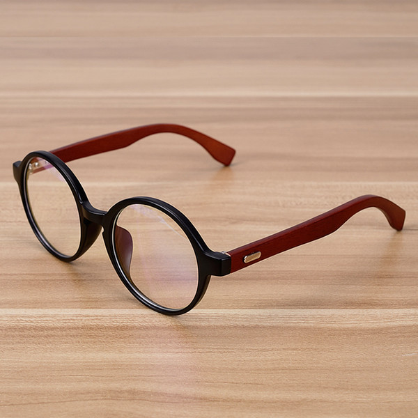 f025e20ec3f Wholesale- NOSSA Handmade Wooden Classic Glasses Frame Women Men Vintage  Myopia Eyewear Frames Wood Round Spectacle Eyeglasses Goggles