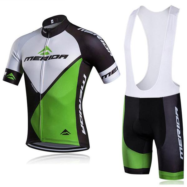 Sıcak Satış MERIDA Takımı Bisiklet Giyim 2019 Erkekler Yaz Nefes Yarış Bisiklet Kısa Kollu Bisiklet Jersey Suit Y032710 Giymek