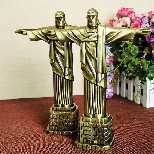 21cm Altezza Metallo Artigianato Brasile Rio Famoso punto di riferimento Cristo Redentore
