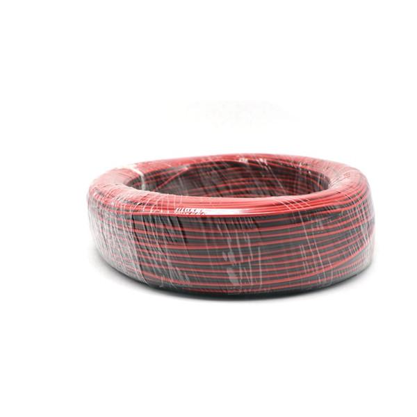 2pin rot schwarzes Kabel PVC-isoliertes Drahtkabel für einzelne Farbe 5050 3528 5630 3014 2835 LED-Streifen 600m / lot roter und schwarzer Draht