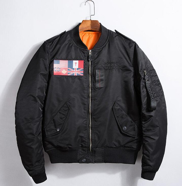 Air Force Pilot Jacket kanye west ma1 yeezus Men's Embroidery Flag Uniforms Men Wind Breaker Jacket Hip Hop I FEEL LIKE PABLO