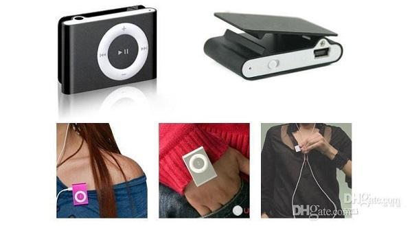 Clip Mini Lochkamera DVR MP3 Player Lochkamera Digital Video Audio Recorder Blau / Schwarz mit Kleinkasten