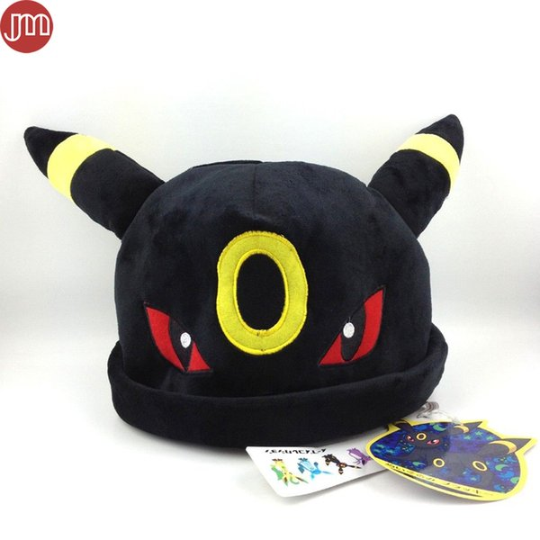New Umbreon Plush Toy Hat Cosplay Cap Warm Winter Beanies Costume Soft Plushie Anime Cartoon Christmas Gift for Adults Teenagers