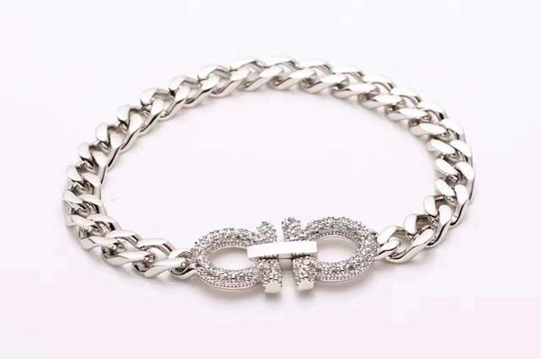 Wholesale foreign trade high - end jewelry bracelet titanium steel ladies bracelet full diamond double - symbol rose gold bracelet