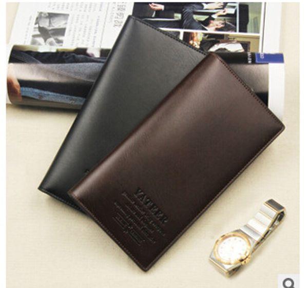 Venta al por mayor- Business casual men's long wallet billetera estudiante hombres vertical multi-card-bit card cards