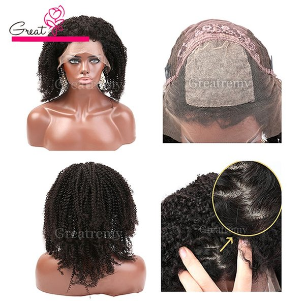 brazilian silk base full lace wig human hair lace front wigs with baby hair silk top curly afro kinky lace wig greatremy