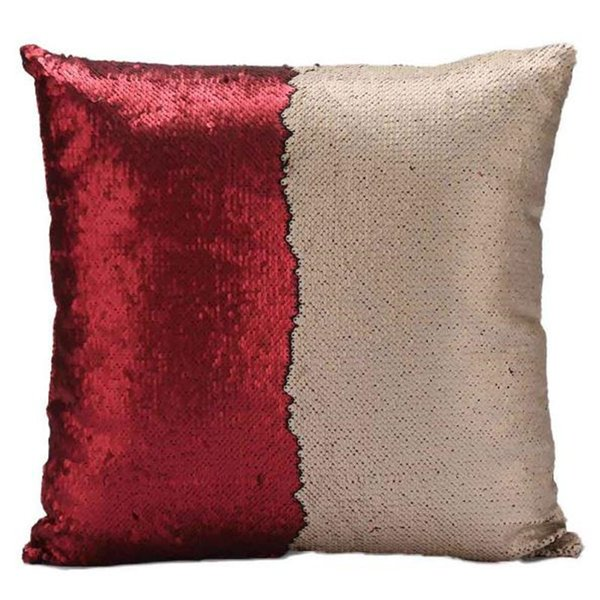 Fashion gift Magic Glamour Bright Pillow case 2 Color Sequin Mermaid Pillow Covers Reversible Cushion Cover Home Sofa Car-styling Decor CASE