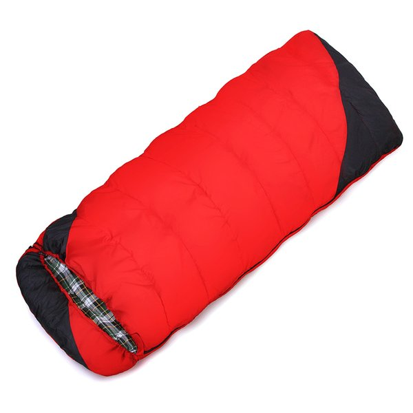 Wholesale- POINT BREAK High Quality Cotton Flannel Keep Warm Sleeping Bag Outdoor Hiking Travel Camping Sleeping Bag