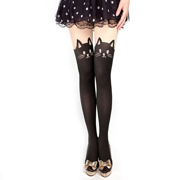 Summer Style Sexy Stockings Women Cute Cat Tail Leggings Female Catoon Stocking Sexy Sheer Pantyhose Stockings Long