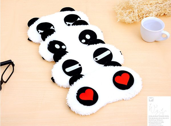 best selling Wholesale Free Shipping Panda Sleeping Eye Mask Nap Eye Shade Cartoon Blindfold Sleep Eyes Cover Sleeping Travel Rest Patch Blinder