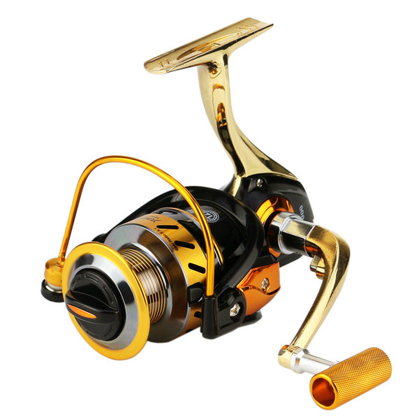 Free Shipping Aluminum Alloy Fishing Reels Spinning 1000-6000 Series 13BB Metal Wire Cup/Spool Saltwater Fishing Wheel 7000 Gear Ratio 5.5:1