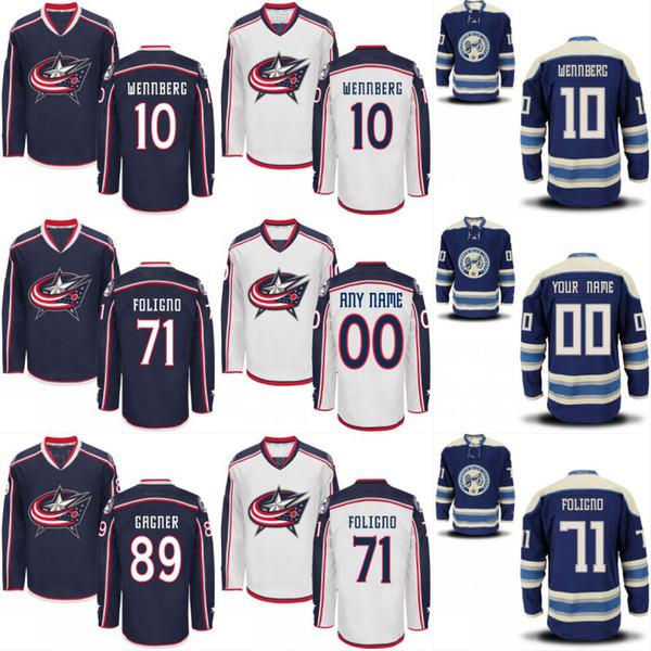 Columbus Blue Jackets Custom Jersey Men's 11 Matt Calvert 17 Brandon Dubinsky 71 Nick Foligno 89 Sam Gagner 100% Stitched Hockey Jerseys