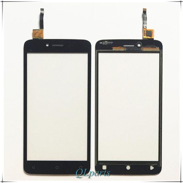Al por mayor-Panel táctil del teléfono móvil Sensor de pantalla táctil de vidrio frontal para Fly FS505 FS 505 Touch pantalla digitalizador de repuesto envío gratis