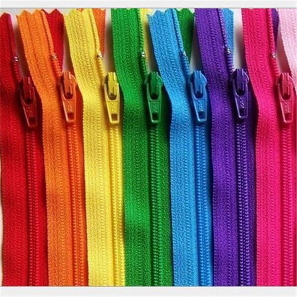 Venta al por mayor-10 piezas / lote Cinta de nylon Zip Coil Zippers Tailor Sewer Craft 9 Inch 23 cm Crafter's DIY Accesorios para coser ropa