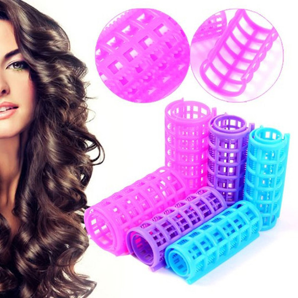 best selling Plastic Hair Rollers Hair Curlers DIY Hair Salon Curlers Rollers Tool Soft Large Hairdressing Tools 6 8 10 12pcs