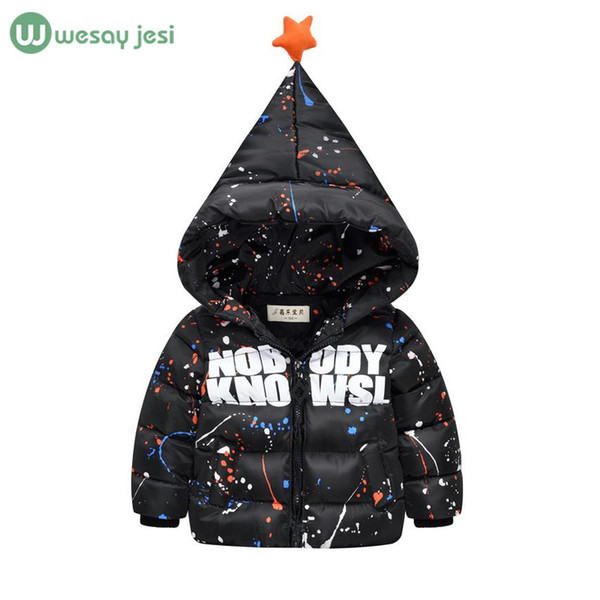 Cheap Infant Down Jackets Fashion Printing Graffiti Winter Boys ...