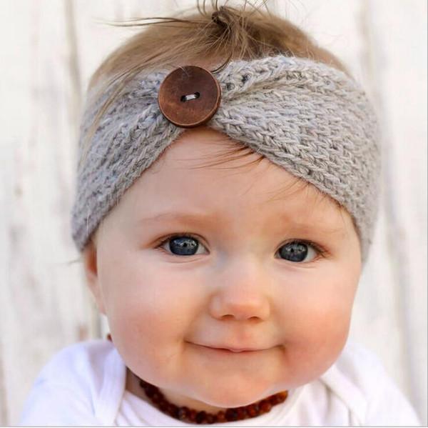 Mix 9 Couleurs Bébé Laine Bandeaux Tricotés casquettes bandeau Enfants Crochet Cheveux Arcs Rubans De Cheveux Bandanas Accessoires De Cheveux