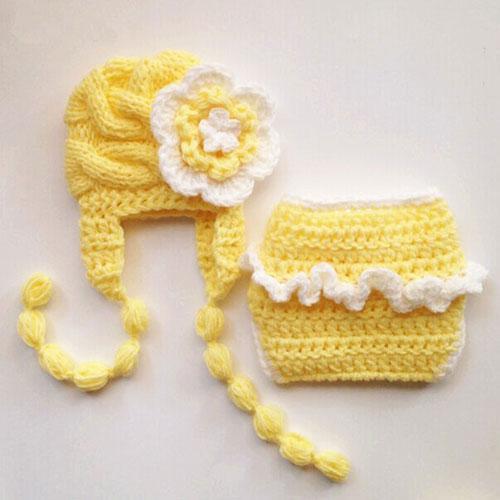 Neugeborene Baby Schätzchen Knit Strick Fotoshooting Kostüm Engel Flügel