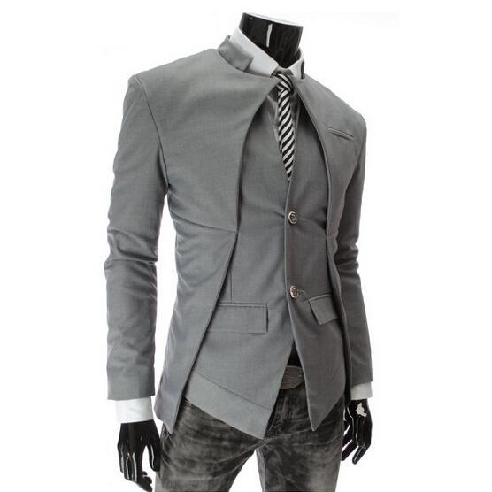 Al por mayor-2016 Diseñador de la marca de moda Mens Traje chaqueta Inglaterra Estilo Slim Fit Blazer abrigos Tuxedo Business Men Suits envío de la gota