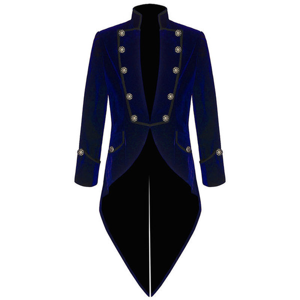 Velvet Bule Swallow Tailed Coat Custom Made Fashion Men Suits Formal Party Prom Blazer Latest Coat Pant 2017 Hot SaleJacket+Pant