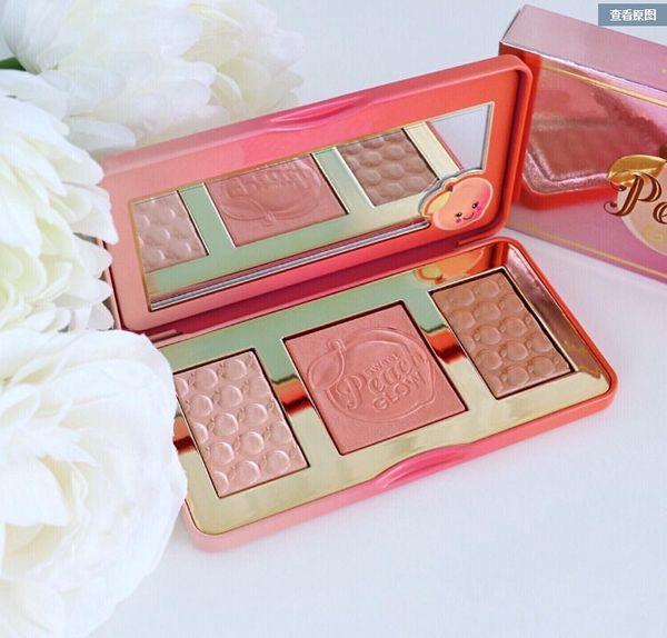 Epacket makeup weet peach glow bronzer highlighter blu h palette