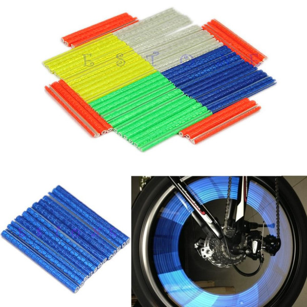12pcs Bike Riding Bicycle Wheel Spoke Reflector Reflective Mount Warning Light Hot Sale High Quality
