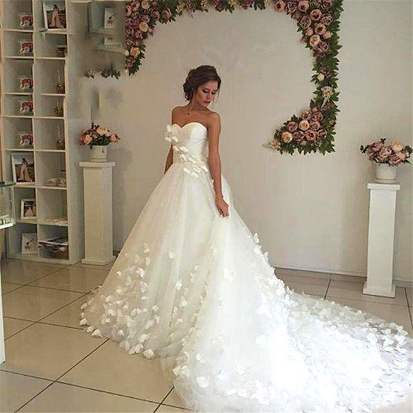 best selling Amazing Dream Wedding Dress Butterfly Ultra Long Train Women Wedding Formal Gowns Romantic Chic Bridal Dress Vestidos De Noiva