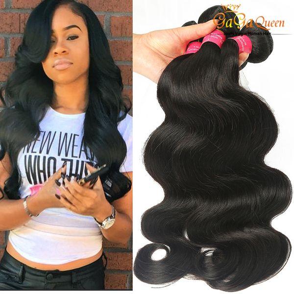 venta al por mayor 8A Malaysian Virgin Hair Body Wave 4 Bundles Dyeable El cabello humano teje el pelo de Malasia mojado y ondulado Gaga Queen