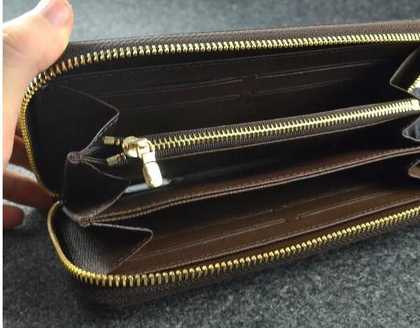ZIPPY WALLET VERTICAL die eleganteste Art und Weise, um Geld, Karten und Münzen berühmte Design Männer Leder Geldbörse Kartenhalter lange Geschäft zu tragen