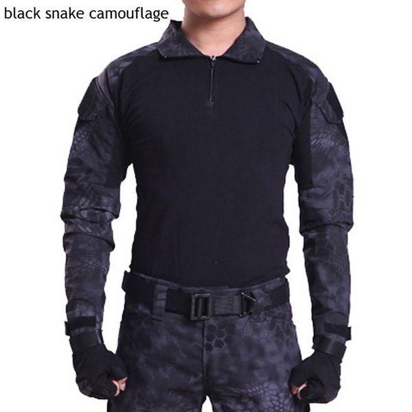 HEIßER 2017 Outdoor Commando tarnung Frogloks Anzug sport Tactical Combat Uniform männer armee Military Cargo Wandern Klettern T-shirt