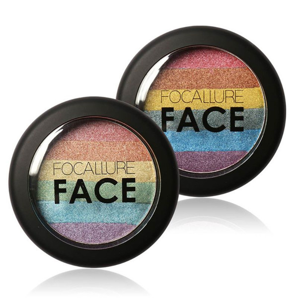 Wholesale- Hot Makeup Rainbow Contour Shading Powder Face Bronzer Highlight Shadow ConcealerCY2