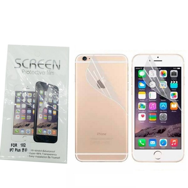 Matte Ultra-thin Frosted Cell phone Protectors Films Anti-Glare For iPhone X 8 7 6s plus 5S Dustproof Screen Front Back Protective film