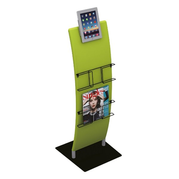 iPad Stand with iPad Rack Set Brochure Stand Tension Fabric Graphic Portable Carry Bag New Come